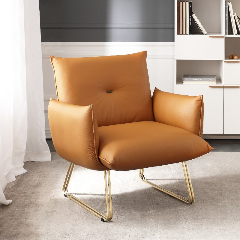 accent chairs with gold finished legs