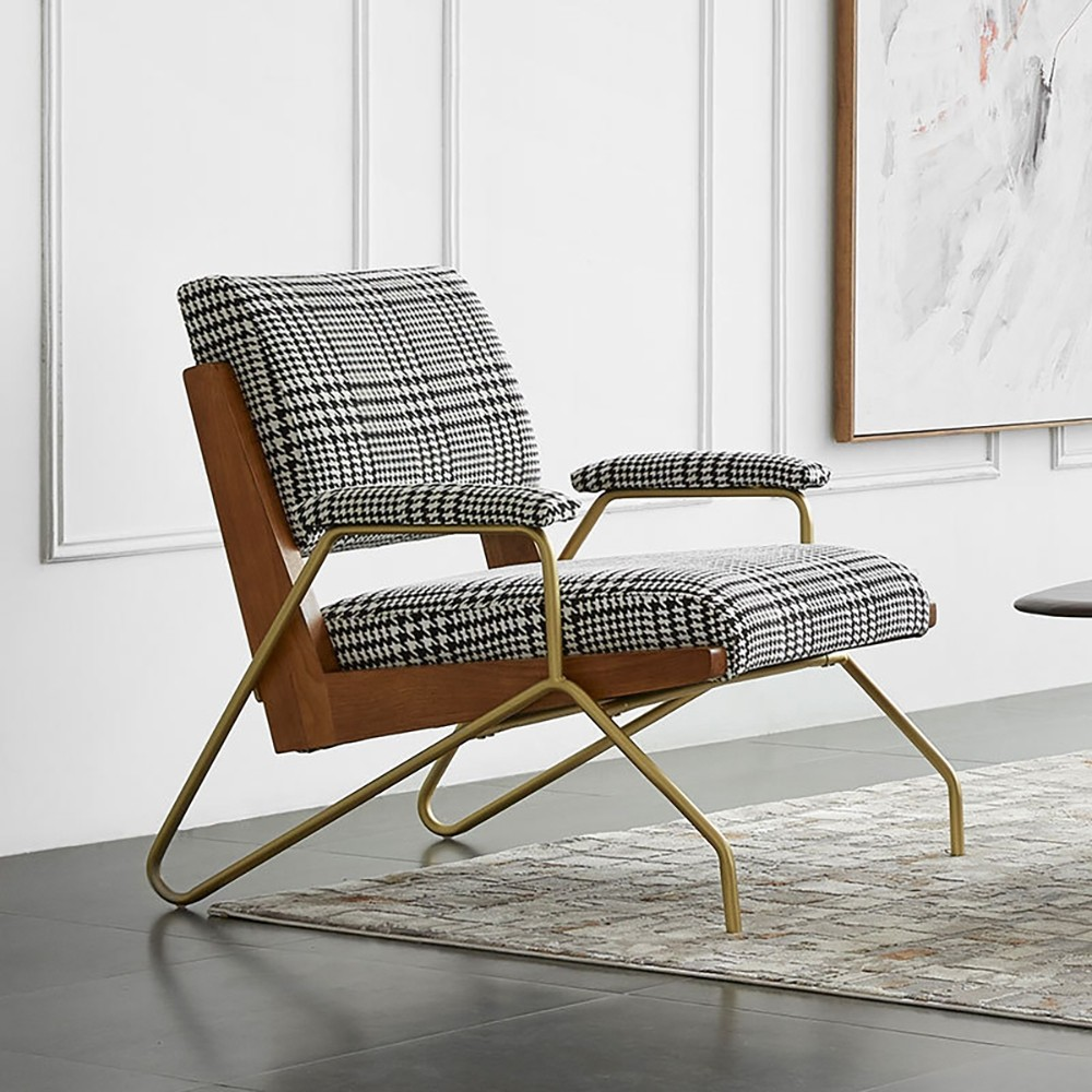 accent chairs with gold legs