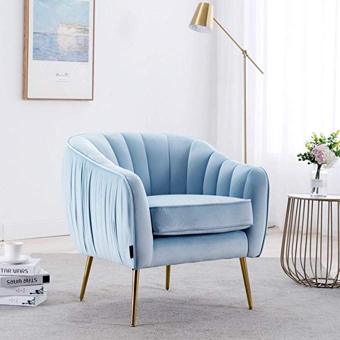baby blue accent chair
