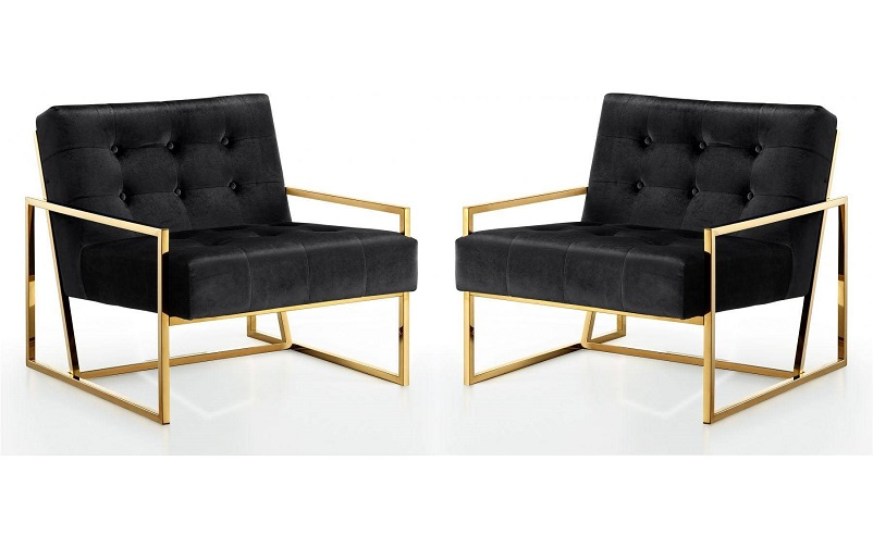 black and gold accent chairs