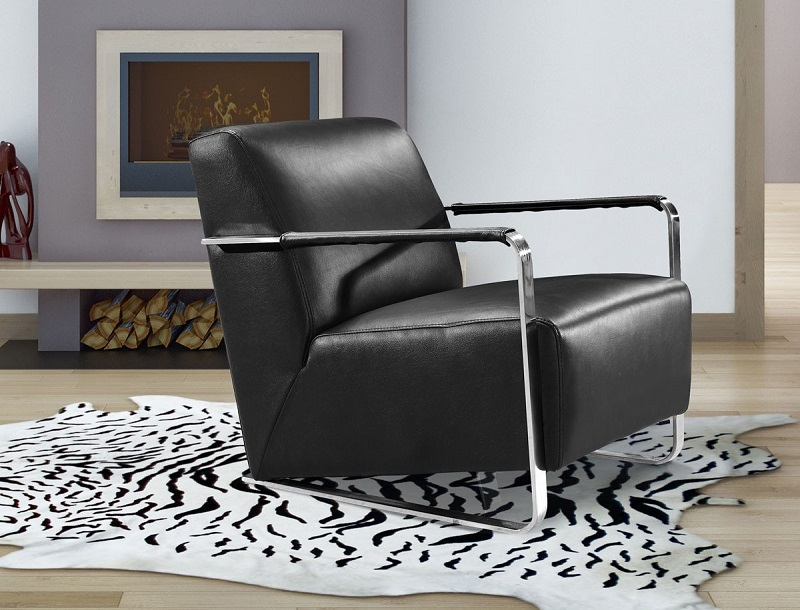 black leather accent chairs